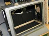 Entkerntes Gehäuse mit Eigenbau-Frontplatte